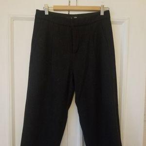 Frank & Oak wool blend highwaist cropped trousers
